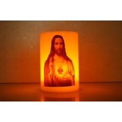 شمع مع بطارية (قلب يسوع)