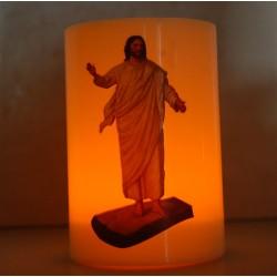 شمع مع بطارية (يسوع القائم)