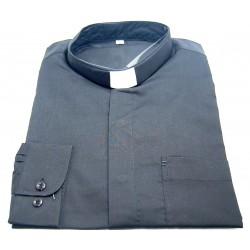 قميص كليرجي (لون أسود- كم طويل-L)