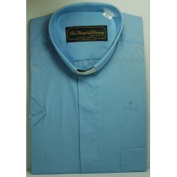 قميص كليرجي (لون أزرق-كم قصير-L)
