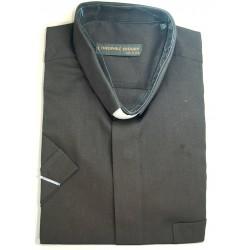 قميص كليرجي (لون أسود- كم قصير-XXL)