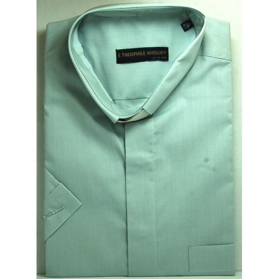 قميص كليرجي (لون سكني فاتح-كم قصير-XL)