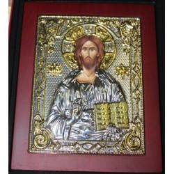 (أيقونة المسيح بيزنطي(فضي