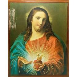 أيقونة قلب يسوع 3/ مذهب
