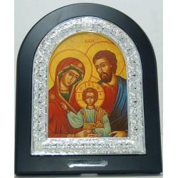 برواز طاولة من خشب ومعدن (العائلة المقدسة - بيزنطي).