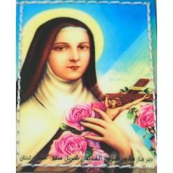 صورة صغيرة للهوية من جلد أصلي (القديسة تريز الطل يسوع)