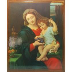 أيقونة مريم والطفل 7 (مع قطف عنب)
