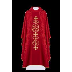 بدلة قداس احمر - صليب قمح