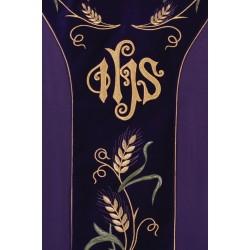 بدلة قداس IHS مع قمح وعنب