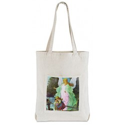 حقيبة قماش مع صورة الملاك الحارس