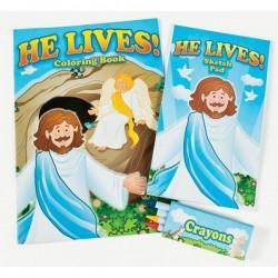 دفتر تلوين He lives